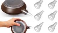 Decomax dekorationssprits med sex olika munstycken, det nya smarta köksredskapet för lättare och enklare dekoration.